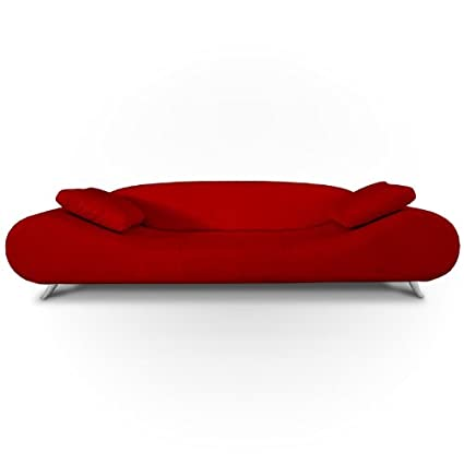 GTU Furniture Contemporary Modern, Sleek Chic and Plush and Faux Leather  Rich Red, Over-Stuffed Loveseat Sofa, Sofás de Sala
