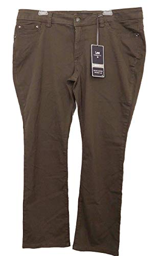 Lee Platinum Womens Size 14 Woodspice Brown Midrise Straight Leg Jeans ()