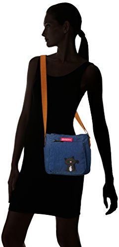 Emmy Blue Cat Dark Womens Motif SWANKYSWANS Designer Crossbody Bag Side Pocket Ladies with rr8wqH7