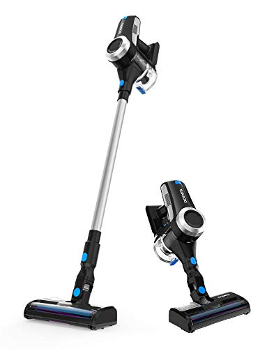 Dcenta Cordless Vacuum Cleaner, Stick Vacuum Cleaner 20KPa with 350W Digital Motor, 2 in 1 Handheld Vacuum for Deep Clean and Pet Owner