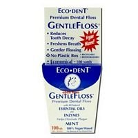 Eco-Dent Premium Dental Floss GentleFloss, Mint Flavored 100 yards (Pack of 5)
