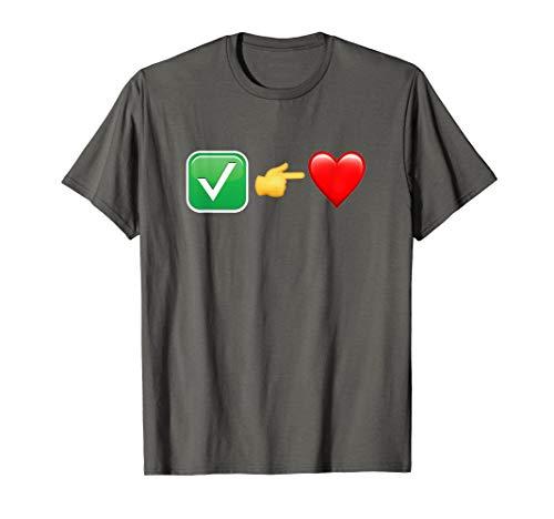 Check Your Heart Emoji Funny Christian Comedy T-Shirt