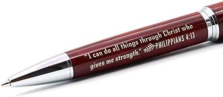 Philippians 4:13 Faith Gift Pen with Engraved Bible Verse