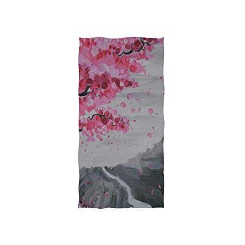 Pingshoes Japanese Paintings of Cherry Blossoms Hand Towels Cotton Washcloths Face Cloth Soft Wash Cloths for Home Kitchen Bathroom Spa Gym Swim Hotel Use]()