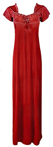 The corte Red Camicia Maniche da Orange Tags notte Donna gPfqrg