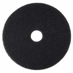 (3M Niagara 7200N Black Stripping Pad - 5/Carton - Round x 13
