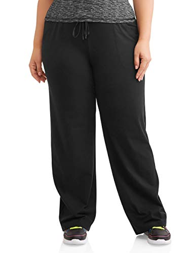 - Athletic Works Women's Plus-Size Dri-More Core Relaxed Fit Workout Pant, Black, 3X