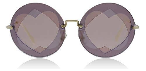 Miu Miu Women's 0MU 01SS Lilac/Pink/Pink Gold Mirror One Size (Miu Miu Sunglasses)