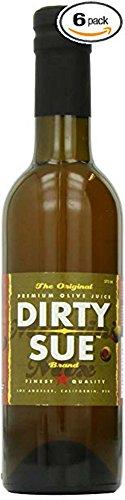 6-Pack Dirty Sue Premium Olive Juice Martini Mix 375ML (12.69oz) (Best Martini Olive Juice)
