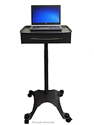 Mobile Laptop Cart with Drawer