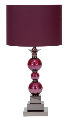 Deco 79 Metal Glass Table Lamp with Portability