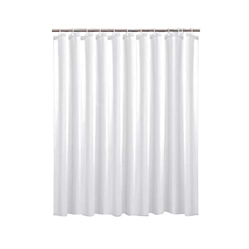 Ikaruga White Water Repellent Shower Curtain, Odorless Fabric, Eco Friendly,Anti Bacterial, Bath Curtains Liner for Bathroom, Easy Hanging on Rod -White, Width 70 Inch Height 70 Inch