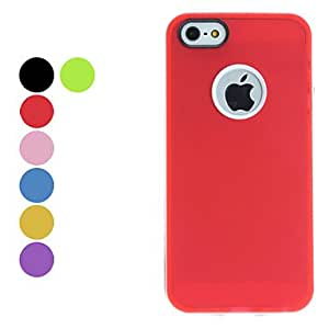 Simple Design Soft Case for iPhone 5/5S --- COLOR:Green