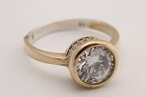 Fashion Style!Turkish Handmade Jewelry Round Shape Topaz 925 Sterling Silver Ring Size All