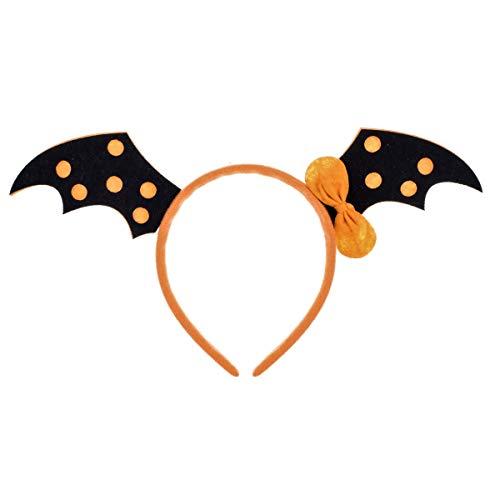 Love Sweety Halloween Spider Ghost Pumpkin Hair Hoop Cosplay Devil Headband (Bat Orange) -