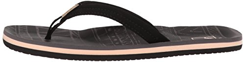 Large Product Image of Reef Girls' Little Ahi Lite Sandal, Black, 2-3 Medium US Little Kid