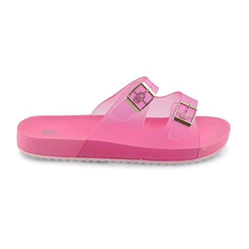 Footwear Sensation - Jelly Mules con dedos descubiertos mujer Rosa - fucsia