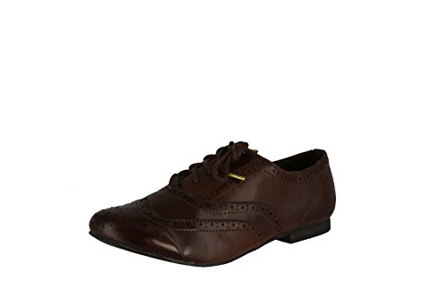 Breckelle's OXFORD-88 Basic Broque Lace Up Oxford Flat