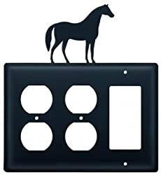 Eoog-68 Horse Outlet Outlet Gfi Electric Switch Wall Plate With Silhouette