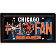 Clock Desk Bear (Chicago Bears # 1 Fan Clock)