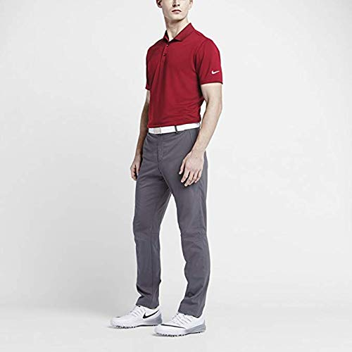 (NIKE Mens Dri-Fit Golf Solid Polo Shirt (Red, Large) )
