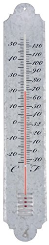 Esschert Design Old Zinc Thermometer, Large