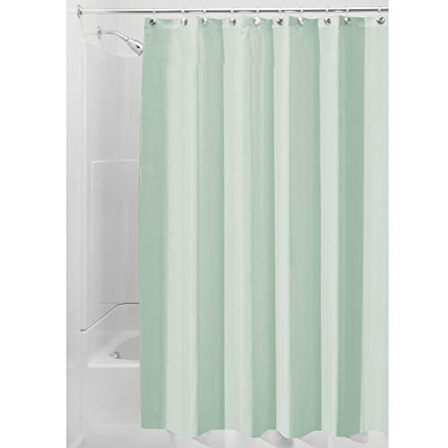 iDesign Fabric Shower Curtain, Mold-and Mildew-Resistant Water-Repellent Bath Liner for Master, Kid's, Guest Bathroom, 72