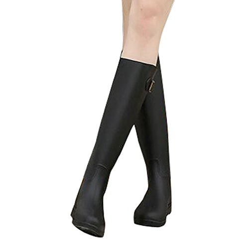 Dear Time Women Mid Calf Rain Boots Black pwskqS