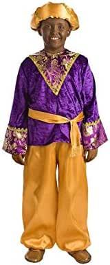 Disfraz de PAJE Baltasar Violeta Infantil P2-(6/7 años): Amazon.es ...