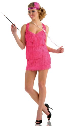 Delicious Lindy And Lace Flapper Costume, Pink, Medium