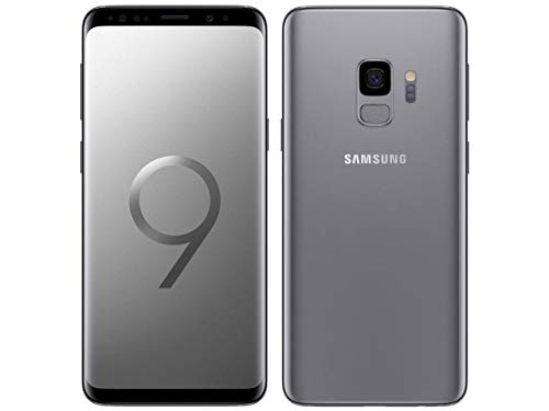 Samsung Galaxy S9, 64GB, Titanium Gray - Fully Unlocked (Renewed)