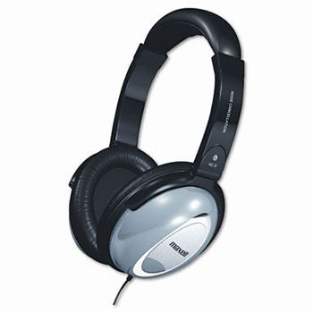 Maxell® Noise Cancellation Headphones HEADSET,STEREO,BGY 2S601818B (Pack ()