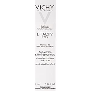 Vichy LiftActiv Eyes Anti-Wrinkle and Firming Eye Cream for Dark Circles and Under-Eye Bags with Caffeine, 0.51 Fl. Oz.