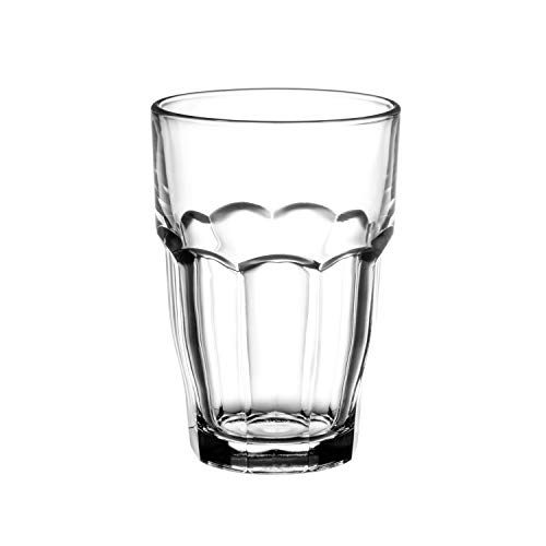 Bormioli Rocco Rock Bar 16-1/4-Ounce Stackable Beverage Glasses, Set of 6