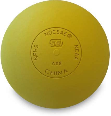 and SEI Certified NOCSAE NFHS CrankShooter 1 Dozen Lacrosse Game Balls NCAA Yellow, 12 Balls