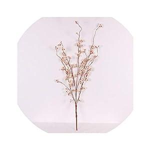 vivid-blue 95cm Artificial Silk Snow Lotus Cherry Blossoms Home DIY Decorative Fake Flowers Wedding Event Scene Layout Accessories,Milk White 98
