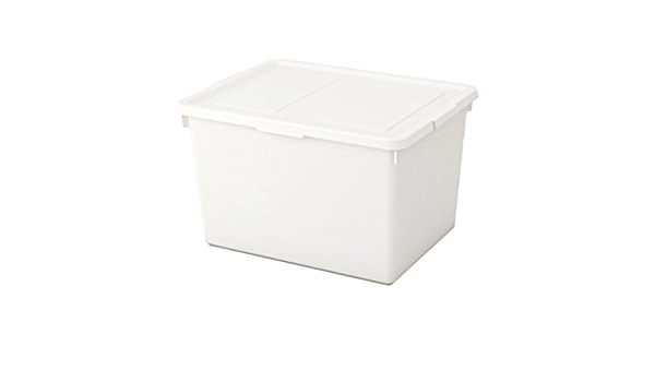 IKEA Sockerbit Box With Lid White Size 15x20x11 ¾