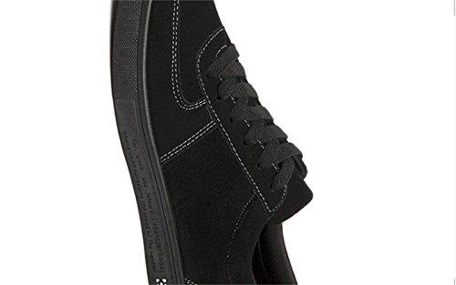 Baskets WUIWUIYU Basses Noir Homme Chaussures de Sport Sneakers qwIwr4U