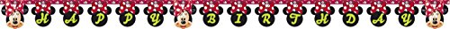 Happy Birthday Cut Outs (Disney Minnie Mouse Red Polka Dots Birthday Party Letter Banner)