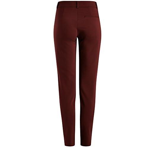 oodji Ultra Mujer Pantalones Ajustados con Cremalleras Decorativas y  Pespunte mejor 12af1a615f7e