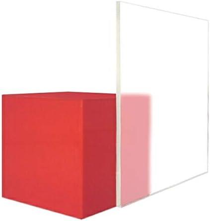 日本製 アクリル板 透明片面マット 艶けし(キャスト板) 厚み8mm 900X900mm 縮小カット1枚無料 糸面取り仕上(手を切る事はありません)(業務用・キャンセル返品不可) レーザーカット可