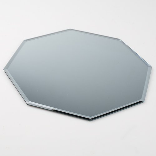 Eastland 12'' Octagon Beveled Centerpiece Table Mirror Set of 10 by Eastland