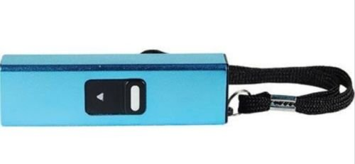 Powerful-10-Million-Volt-Rechargeable-SLIDER-Self-Defense-Keychain-Flashlight-Stun-Gun-Blue