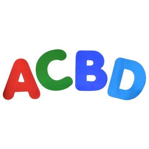 Back to School Toddler Pre-school Elementary School Classroom Teacher Teaching Tree 2'' Die-Cut Foil Letters and Numbers Set of 4