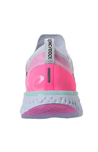 NIKE WMNS Epic React Flyknit Womens Aq0070-007 Pure Platinum/Black-hydrogen Blue cheap sale outlet sale free shipping extremely visa payment cheap online ecHEaVecE