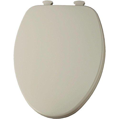 Bemis 585EC 146 Lift-Off Elongated Closed Front Toilet Seat, Almond ()