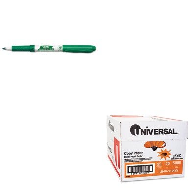 KITBICGDE11GNUNV21200 - Value Kit - BIC Great Erase Grip Dry Erase Markers (BICGDE11GN) and Universal Copy Paper (UNV21200)