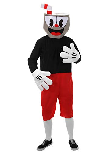 elope Cuphead Cosplay Basic Costume L/XL Red]()