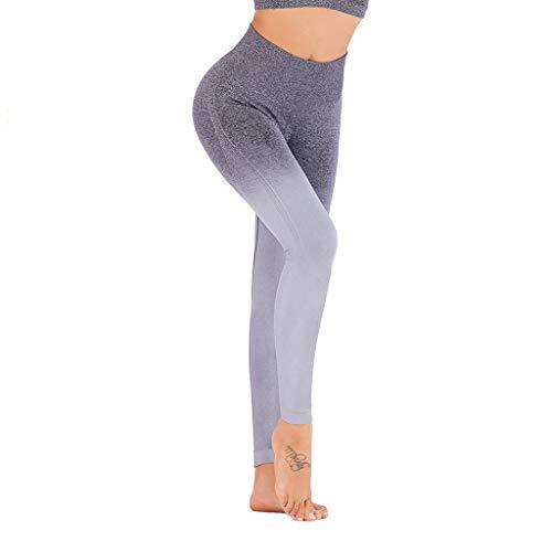 (Womens Yoga Leggings Compression Slim Ombre Gym Seamless Legging Sport Fitness Pants Fuladelt)