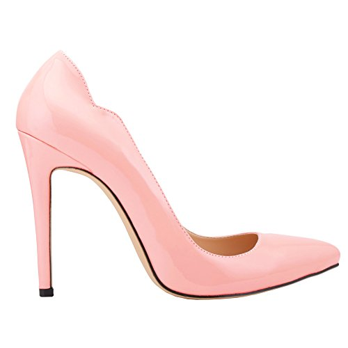 Heels High Slip Pink Pumps Elegant Women's On OL Toe Pointed B6qnY